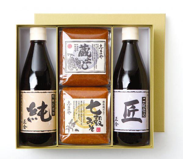 写真:阿波名産御膳みそと小豆島特産醤油の詰め合わせ 小