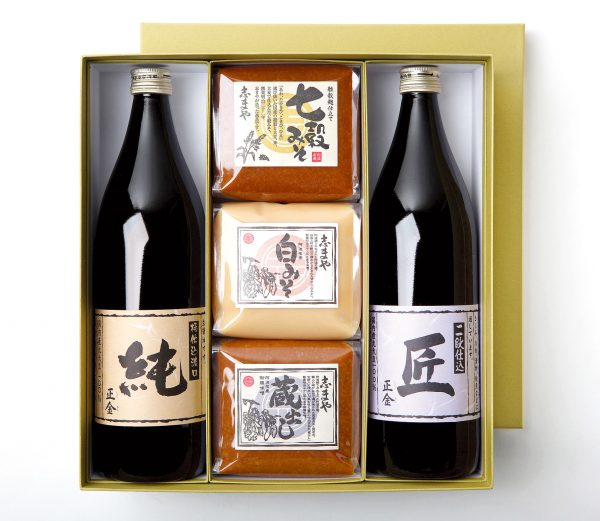 写真:阿波名産御膳みそと小豆島特産醤油の詰め合わせ 大